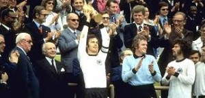 Beckenbauer lifts the trophy